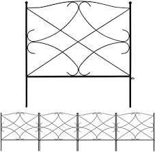 Amazon Com Amagabeli Decorative Garden Fence 24in X 10ft Outdoor Rustproof Metal Landscape Wire Fencing Folding Wire Patio Fences Flower Bed Animal Dogs Barrier Border Edge Section Edging Decor Picket Black