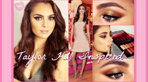makeup tutorial taylor hill inspired