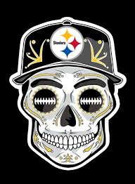 Pittsburgh Steelers Day Of The Dead Sugar Skull Vinyl Decal Sticker Qvddecals Com