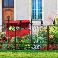 4 X Steel Decorative Garden Fence Sections Fence Panels Fencing Barriers Hardware