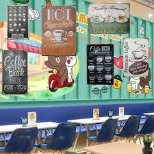 vintage retro metal bar cafe wall decor