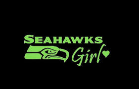Automotive Exterior Accessories Seattle Seahawks Girl Car Window Decal Sticker Lime Green 8