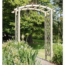 zest daria wooden garden arch 00361