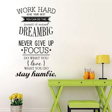 Diy Removable Work Hard Big Dream Wall Stickers Decal Home Decor Vinyl Art Buy At A Low Prices On Joom E Commerce Platform