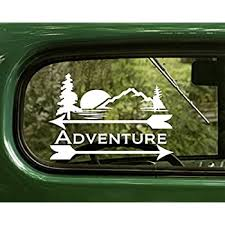 Amazon Com 2 Adventure Outdoor Nature Decal Stickers White For Window Car Truck Laptop Bumper Rv Computers Accessories