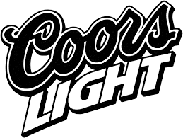 Amazon Com Coors Light Beer Small Vinyl Decal Die Cut White Sticker 8 Width By 6 Height Everything Else