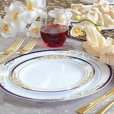 disposable plates for wedding reception