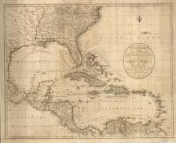 The West Indies, including part of Virginia, North Carolina, East Florida,  South Carolina, West Florida, Georgia, Louisiana, and the Gulf of Mexico,  with part of the coast of South America: From the