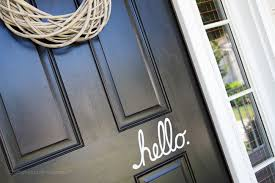 Craftaholics Anonymous Hello Vinyl For The Front Door