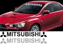 Mitsubishi Lancer Decal Logo Evolution Evo Windshield Window Vinyl Decal Sticker Ebay