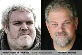 Hodor Totally Looks Like Abraham Benrubi - Totally Looks Like