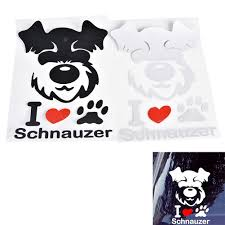 I Love Schnauzer Car Window Stickers Decals Coolthingshere Com