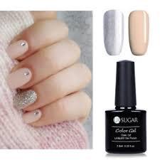 2pcs glitter gel nail polish set uv led