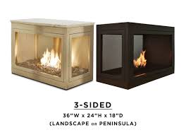 3 sided fireplace summer candles by