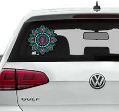 Mandala Car Sticker Car Rear Window Boho Decals Mandala Flower Graphic Color Em4 Ebay