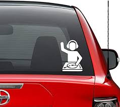 Amazon Com Dj Techno Trance Turntable Vinyl Decal Sticker Car Truck Vehicle Bumper Window Wall Decor Helmet Motorcycle And More Size 5 Inch 13 Cm Tall Color Matte Black