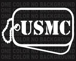 2 Usmc Dog Tags United States Marine Corp Decals Us Military Etsy