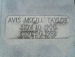 "Avis ""Skitty"" McGill Taylor (1906-1982) - Find A Grave Memorial"