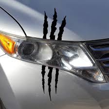 Amazon Com Az Auto Graphics Claw Marks Tear Scratch Decal Headlight Monster Scar Kit Car Truck Sticker Matte Automotive