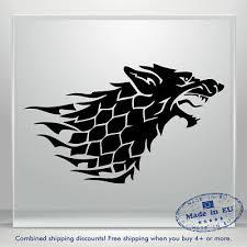 2x Game Of Thrones Stark Dire Wolf Car Window Laptop Vinyl Decal Sticker U Pick 4 15 Picclick
