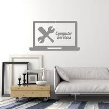 Vinyl Wall Decal Computer Services Repair Laptop Pc Interior Decor Sti Wallstickers4you