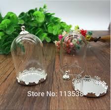 glass globe silver color crown base