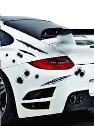 Buy Car Sticker Creative Lifelike Bullet Hole Eye Catching Scratch Car Decal Others At Jolly Chic