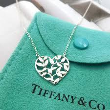 olive leaf heart necklace