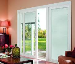 sliding glass doors with blinds inside