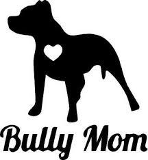 Bully Mom With Heart Vinyl Decal Ebay