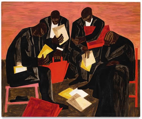 """""""The Businessmen"""" (1947), de Jacob Lawrence, vendida por um recorde de US$ 6,2 milhões"""