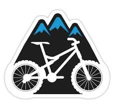 Mountain Biking Mtb Sticker Sticker In 2020 Bike Art Mountain Bike Tattoo Mountain Bike Art