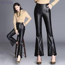 sheran fashion leather pants women s