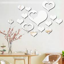 Love Wall Stickers On The Wall 3d Mirror Floral Art Removable Wall Sticker Acrylic Mural Decal Home Decor Room Decoration Dhl Wx9 1877 In This Home Wall Decal Inexpensive Wall Decals From