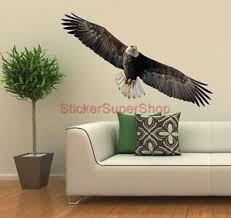 Bald Eagle Artwork Animals Decal Removable Wall Sticker Home Decor Free Shipping Ebay
