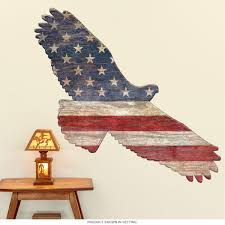 American Flag Eagle Cutout Wall Decal At Retro Planet