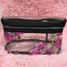 victoria secret makeup bag transpa