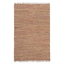 bondi leather jute indoor outdoor rug