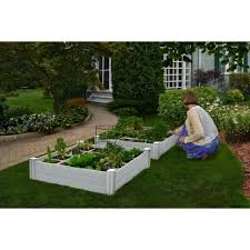 Raised Garden 48 In X 48 In X 10 5 In Critter Guard Fence System Wood Square For Sale Online Ebay