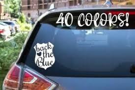 Back The Blue Police Cop Car Laptop Tumbler Decal Sticker Ebay