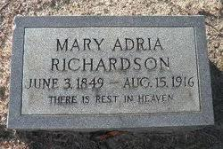 "Mary Adriana ""Adria"" Richardson (1849-1916) - Find A Grave Memorial"