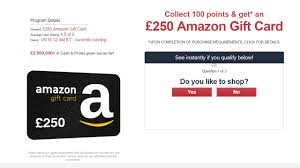 uk only get a 250 amazon gift card