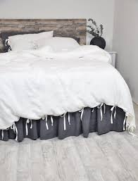 linen bedding with ties duvet cover set