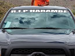 Amazon Com Luke Duke Decals Rip Harambe Vinyl Car Decal Sticker 40 X 3 Banner Imp Waterproof 8 Year Life Will Not Fade Easy To Install From Automotive