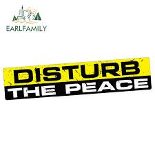 Earlfamily 15cm X 3cm Car Stickers Disturb The Peace Decal Sticker Vinyl Funny Bumper Jdm Exhaust Loud Waterproof Accessories Car Stickers Aliexpress