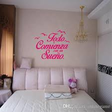 Spanish Quote Vinyl Wall Stickers Bedroom Wall Decals Birds Letterings Home Decor Bedroom Decoration 55 54 Cm Large Removable Wall Decals Large Stickers For Walls From Onlinegame 8 96 Dhgate Com