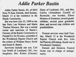 Addie Parker Bastin (Bray Descendant) - Newspapers.com