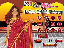 indian bridal makeup game play