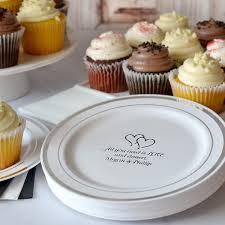silver trim anniversary cake plates