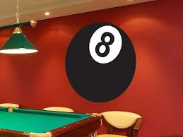 Eight Ball Game Room Vinyl Wall Decal By Walljems Game Room Finishing Basement Vinyl Wall Decals